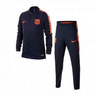 Fato de treino  Nike FC Barcelona Dry Squad Criança 2017-2018 Obsidian-Hyper crimson