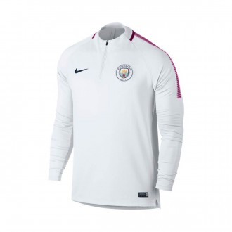 Sudadera  Nike Manchester City FC Dry Squad Dril Top 2017-2018 White-True berry-Midnight navy
