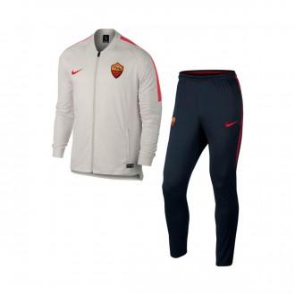 Chándal  Nike AS Roma Dry Squad 2017-2018 Light bone-Dark obsidian-Team Crimson