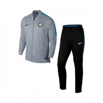 Fato de treino  Nike Inter Milán Dry Squad 2017-2018 Wolf grey-Black-Royal blue
