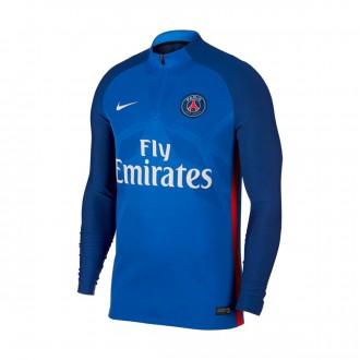 Sweatshirt  Nike Paris Saint-Germain Aeroswift Strike Dril Top 2017-2018 Hyper cobalt-Rush red-White