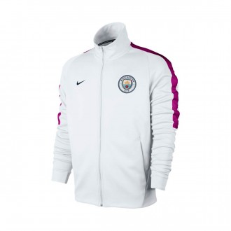 Chaqueta  Nike Manchester City FC NSW 2017-2018 White-True berry-Midnight navy