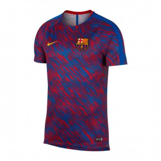 Camisola  Nike FC Barcelona Dry Squad Top SS GX 2017-2018 University red-University gold