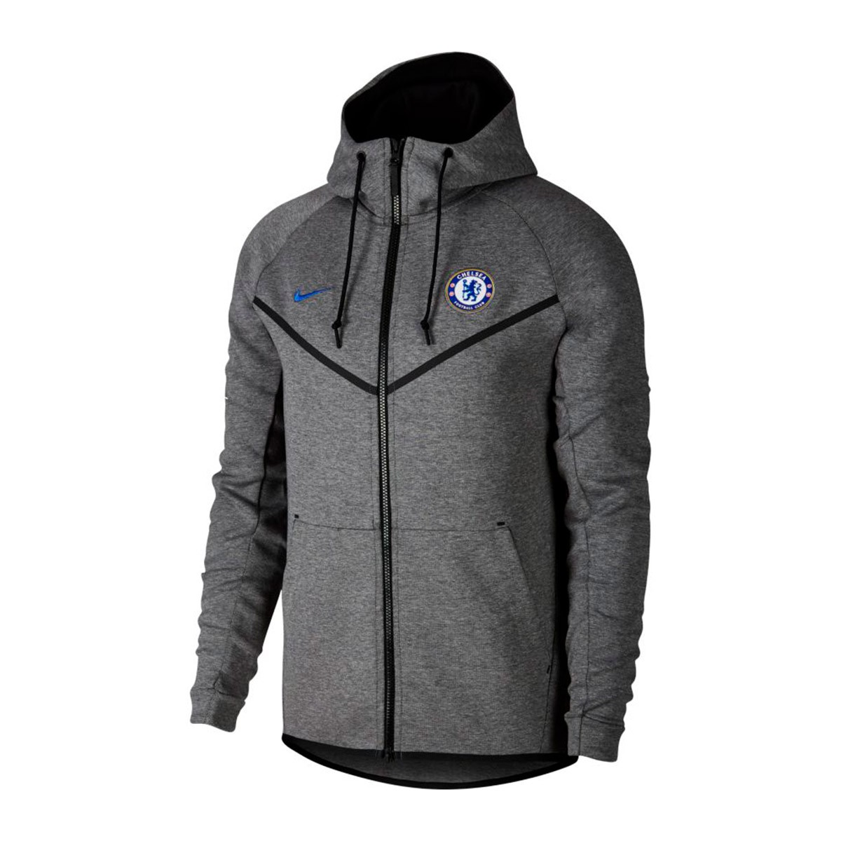 00e33176b Sweatshirt Nike Chelsea FC NSW 2017-2018 Carbon heather-Rush Blue ...