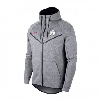Sudadera  Nike Manchester City FC NSW 2017-2018 Carbon heather-True berry