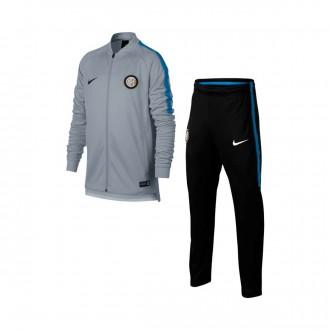 Fato de treino  Nike Inter Milán Dry Squad Crianças 2017-2018 Wolf grey-Black-Royal blue