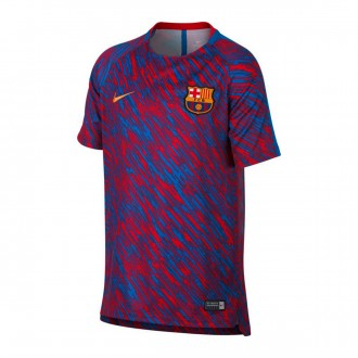 Camiseta  Nike FC Barcelona dry Squad Top SS GX Niño 2017-2018 University red-University gold