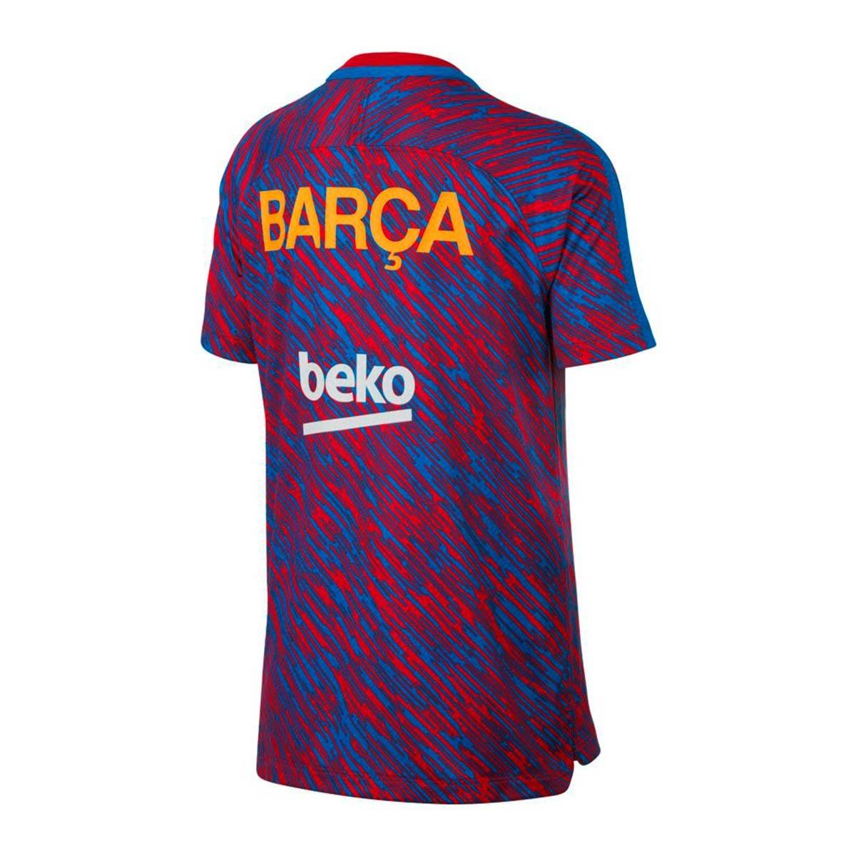 ... Camiseta FC Barcelona Dry Squad Top SS GX Niño 2017-2018 University  red-University. CATEGORY 1cd8c3ec1ada1
