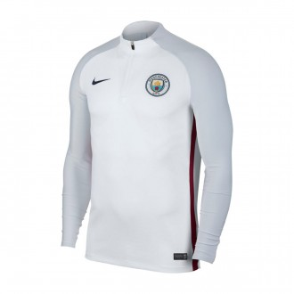 Sudadera  Nike Manchester City FC Aeroswift Strike Dril Top 2017-2018 White-Pure Platinum-Midnight navy