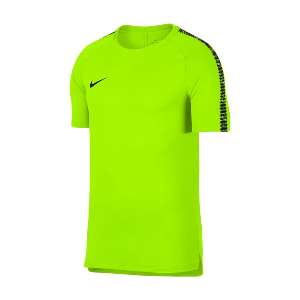 924aee5eecb Playera Nike Breathe Squad Top SS Neymar Volt-Black - Tienda de fútbol  Fútbol Emotion