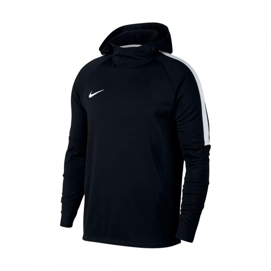 732ae18ff Sweatshirt Nike Dry Academy Hoodie Black-White - Football store Fútbol  Emotion