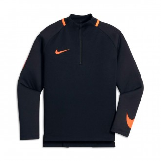 Sweat  Nike Dry Squad Dril Top Enfant Black-Cone