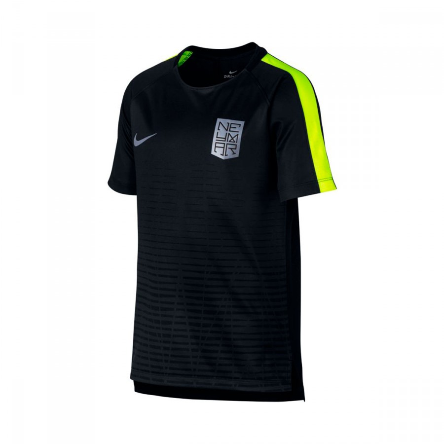 Camiseta Ss Neymar Squad Black Top Dry Volt Niño nO8wk0P