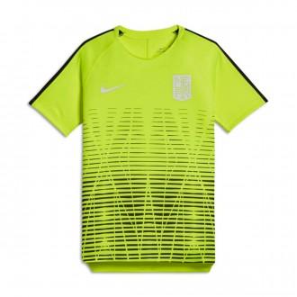 Camiseta  Nike Dry Squad Top SS Neymar Niño Volt-Black