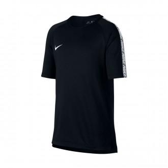 Camisola  Nike Breathe Squad Top Niño Black-White