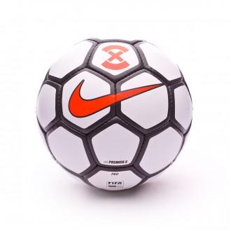 Bola de Futebol  Nike PremierX White-Dark grey-Total orange