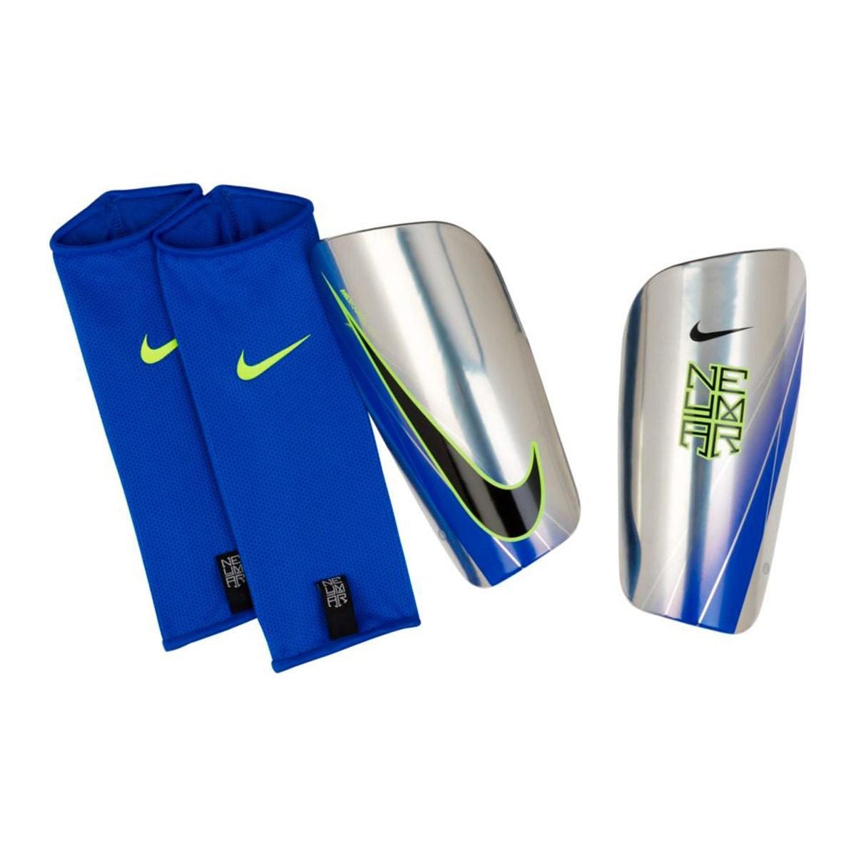 Espinillera Nike Neymar Mercurial Lite Football Chrome-Volt-Racer  blue-Black - Soloporteros es ahora Fútbol Emotion 7ee489146eab7