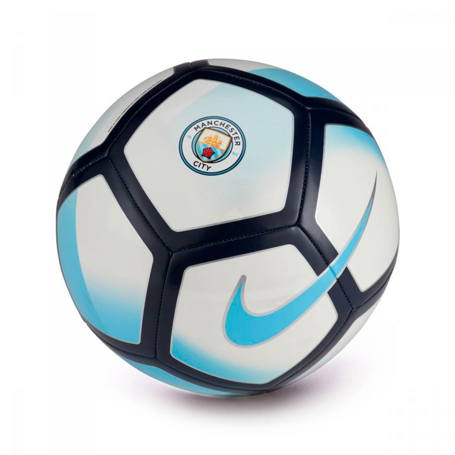 Ball Nike Manchester City FC Pitch 2017-2018 White-Field blue ... fa41def7ac672