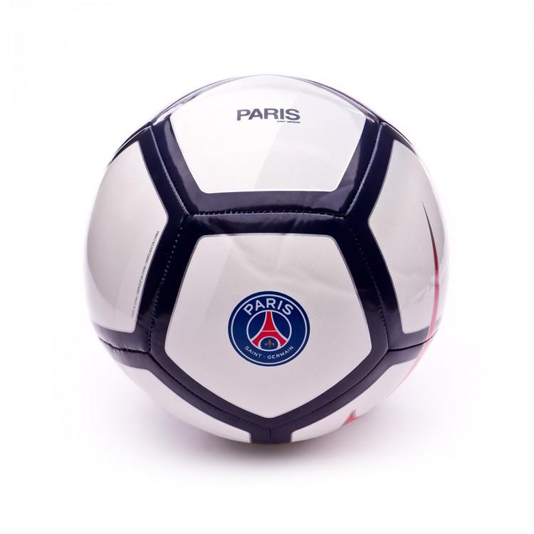 Balón Nike Paris Saint-Germain Pitch 2017-2018 White-Wolf grey ... d7af339dd5c03