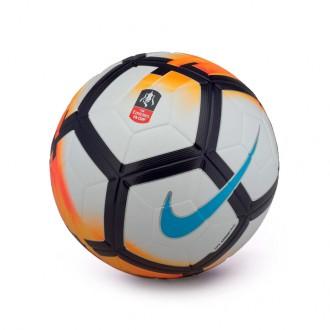 Balón  Nike FA Cup Ordem V Football White-Bright mango-Chlorine blue