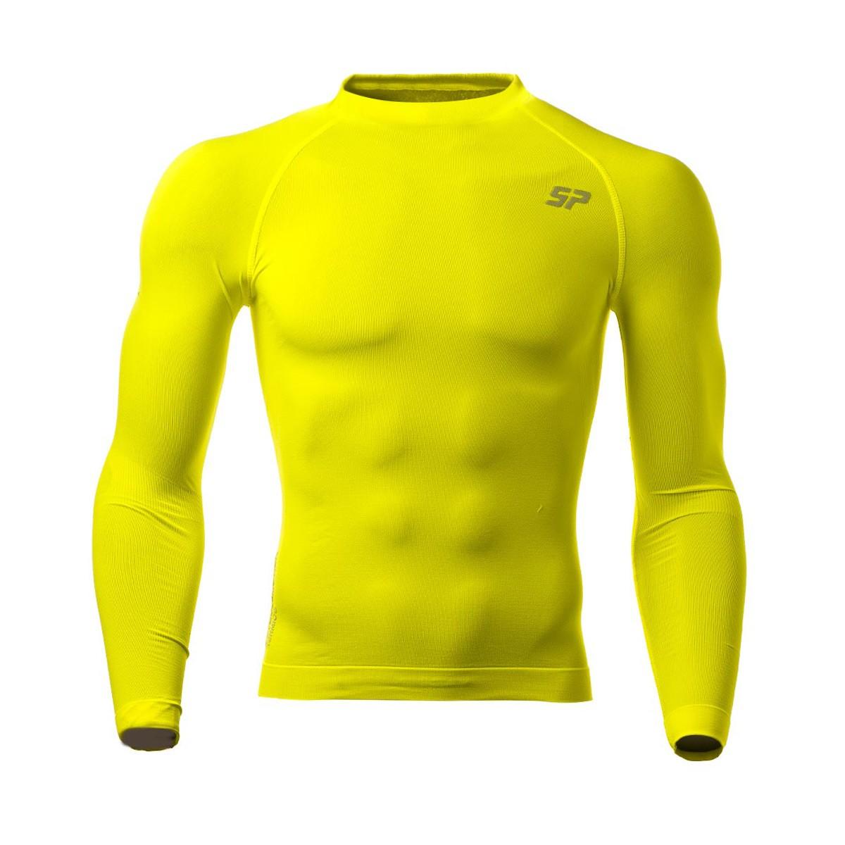 cf48ad17c Camiseta SP Fútbol Térmica Doble Densidad Amarillo Flúor - Tienda de fútbol  Fútbol Emotion