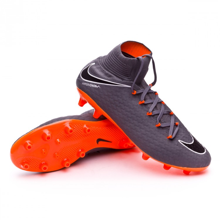 caridad Componer Diplomático  Football Boots Nike Hypervenom Phantom III Pro DF AG-Pro Dark grey-Total  orange-White - Football store Fútbol Emotion