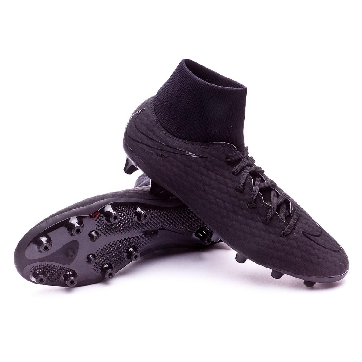 9e0456f7ef0 Football Boots Nike Hypervenom Phelon III DF AG-Pro Black - Football ...