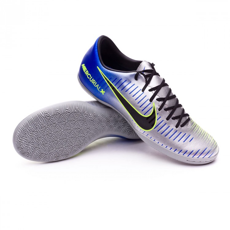 Zapatilla MercurialX Victory VI IC Neymar Racer blue Black Chrome Volt