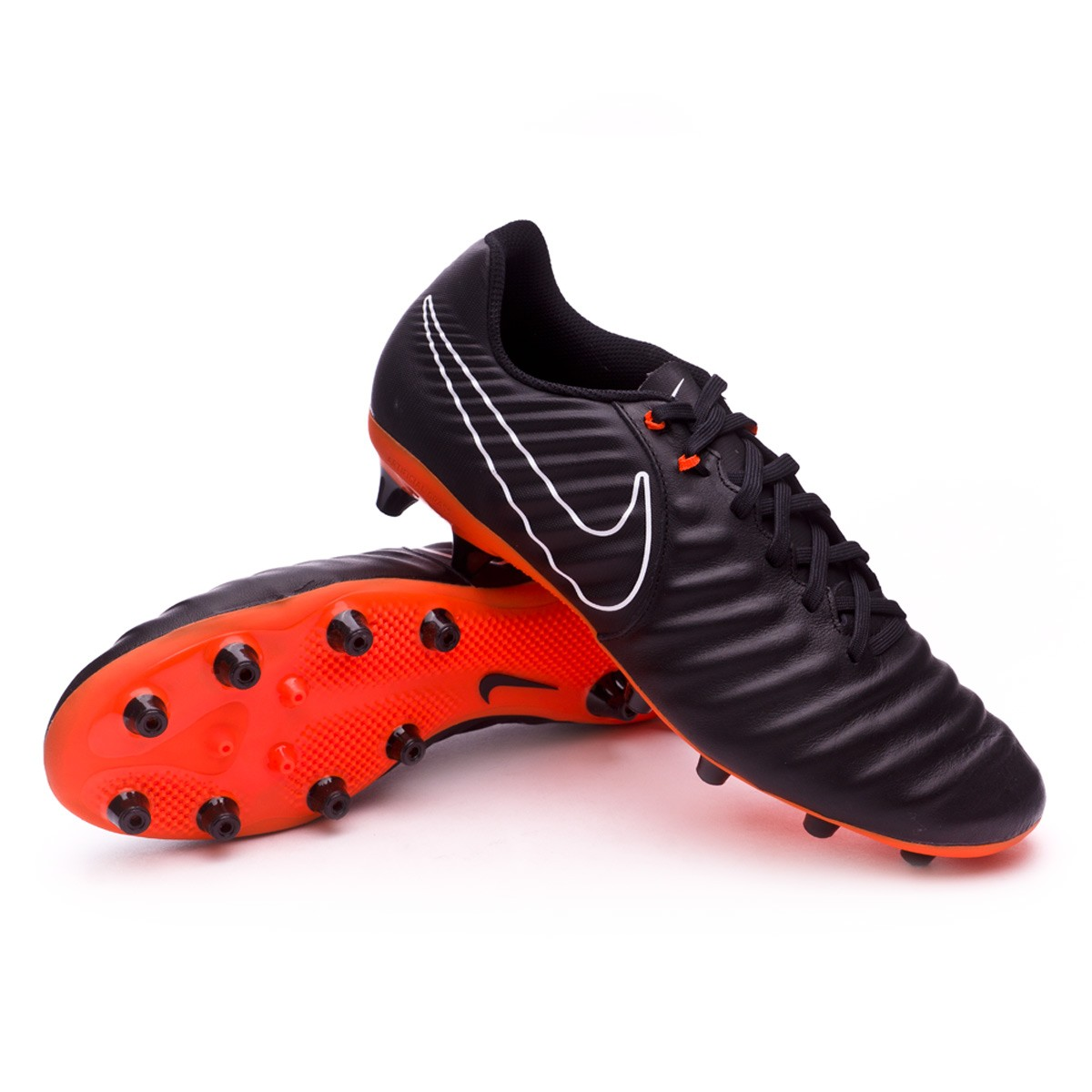 LEGEND 7 ACADEMY AG-PRO - Botas de fútbol con tacos - black/total orange/white ETOhi