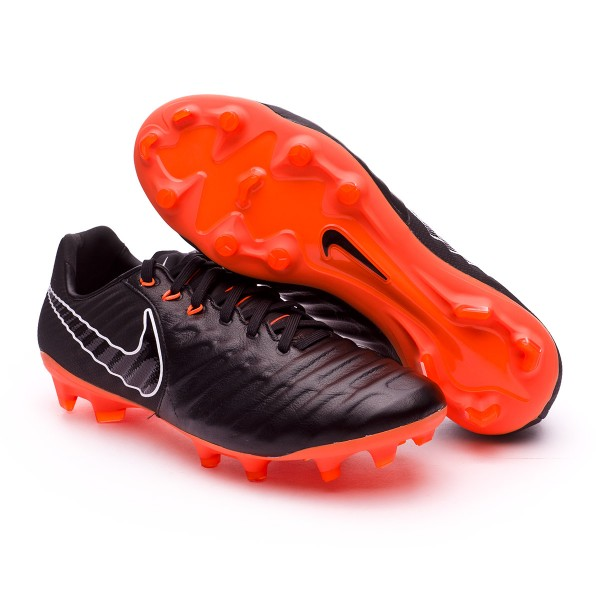 21575bf0cb973 Football Boots Nike Tiempo Legend VII Pro FG Black-Total orange-White - Tienda  de fútbol Fútbol Emotion