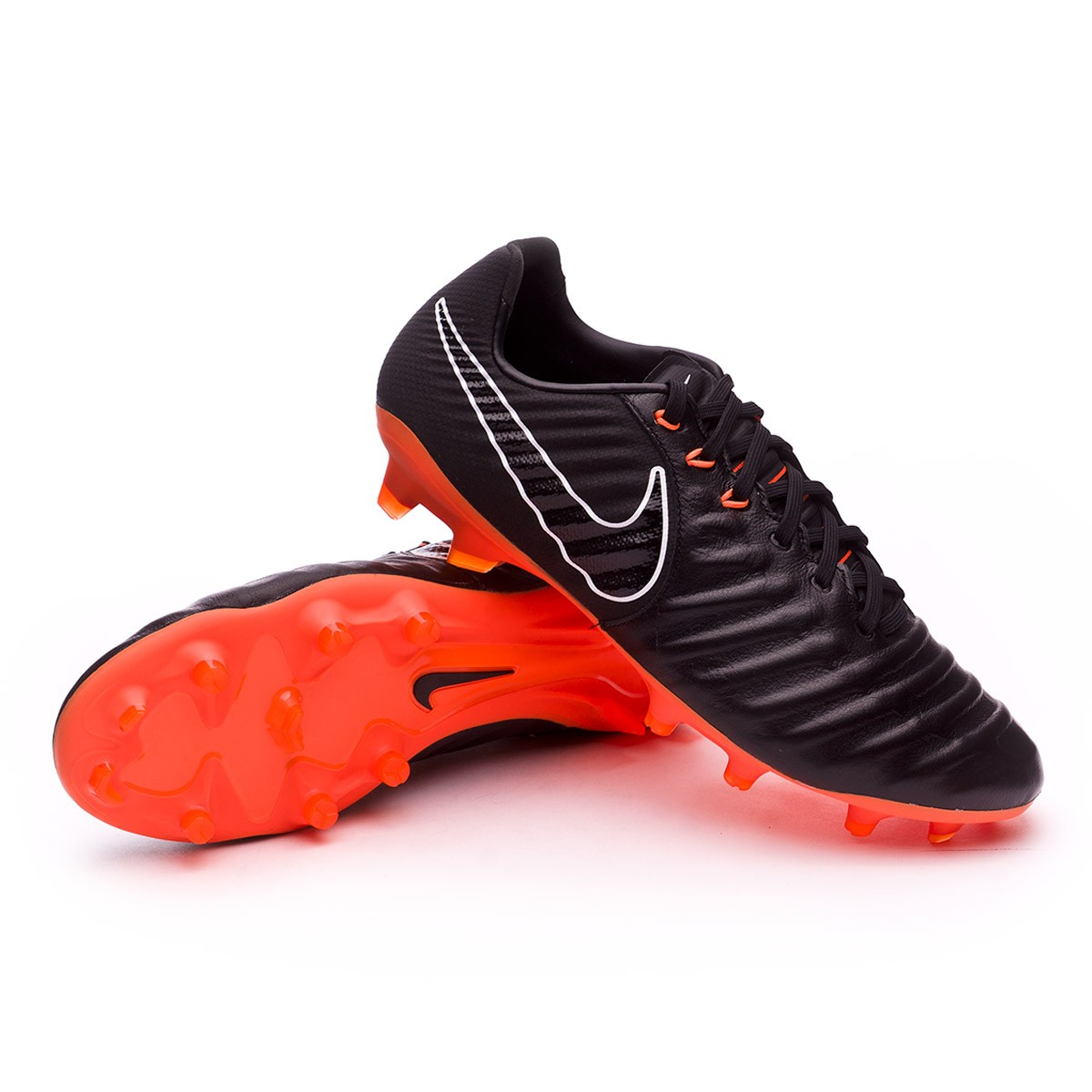 9925f89bd Football Boots Nike Tiempo Legend VII Pro FG Black-Total orange ...