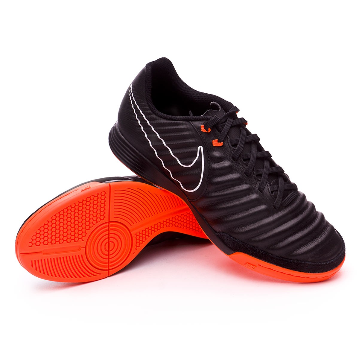 Futsal Boot Nike Tiempo LegendX VII Academy IC Black-Total orange-White