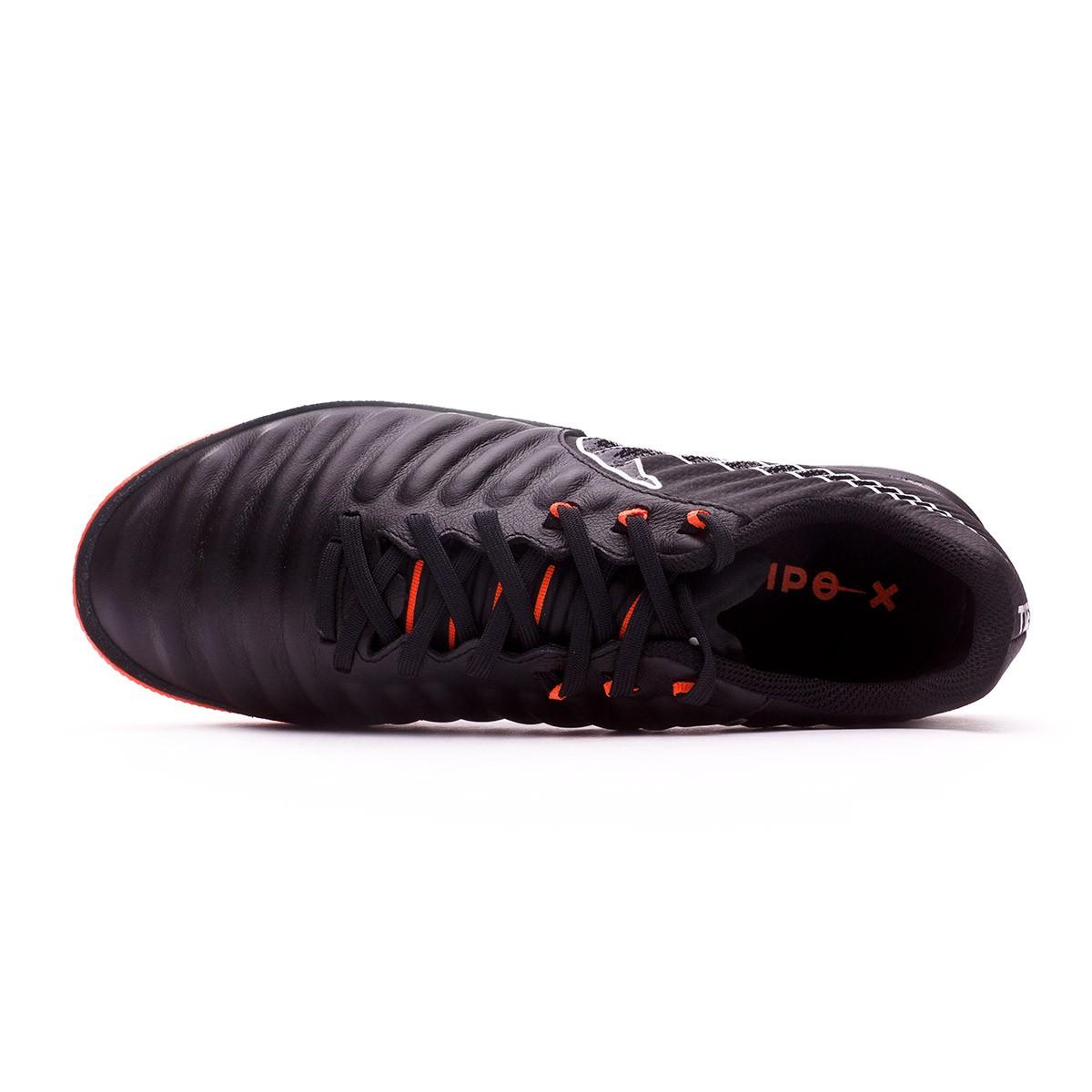 7010848c1 Futsal Boot Nike Tiempo Lunar LegendX VII Pro IC Black-Total orange - Football  store Fútbol Emotion