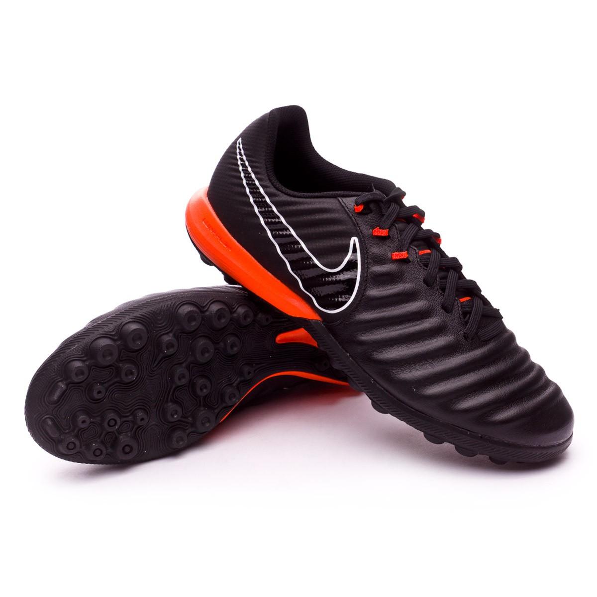 f0529d5d911 Tenis Nike Tiempo Lunar LegendX VII Pro Turf Black-Total orange - Tienda de  fútbol Fútbol Emotion