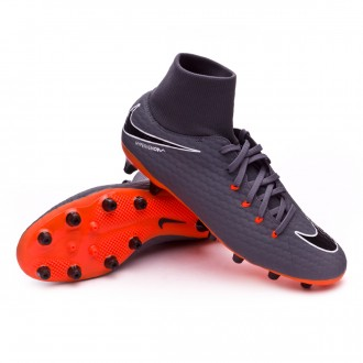 Zapatos de fútbol  Nike Hypervenom Phantom III Academy DF AG-Pro Dark grey-Total orange-White