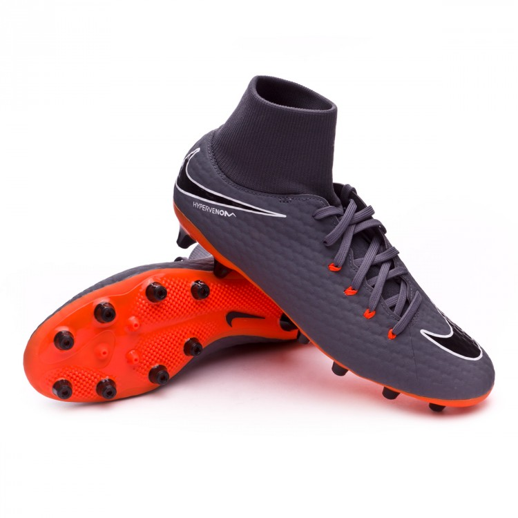 Chuteira Nike Hypervenom Phantom III Academy DF AG-Pro Dark grey ... b9f939f28dcec