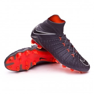 Zapatos de fútbol  Nike Hypervenom Phantom III Elite DF FG Dark grey-Total orange-White