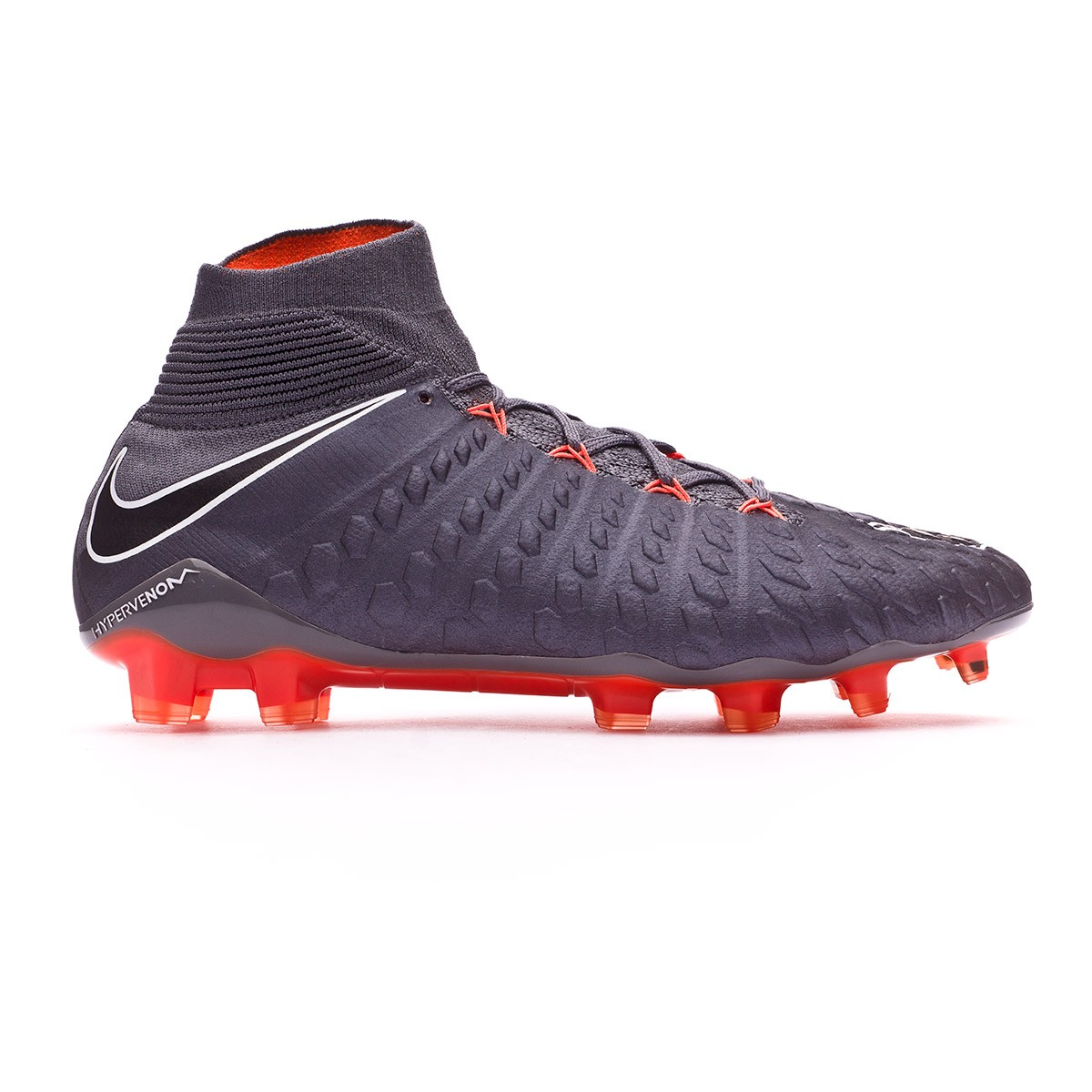 25a978629 Football Boots Nike Hypervenom Phantom III Elite DF FG Dark grey-Total  orange-White - Football store Fútbol Emotion