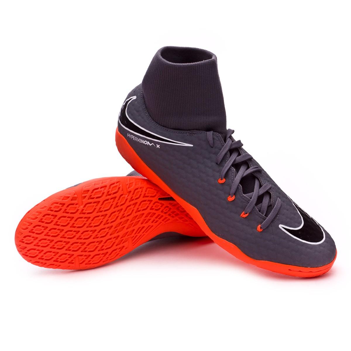 a886bd5b0c0e Futsal Boot Nike Hypervenom PhantomX III Academy DF IC Dark grey ...