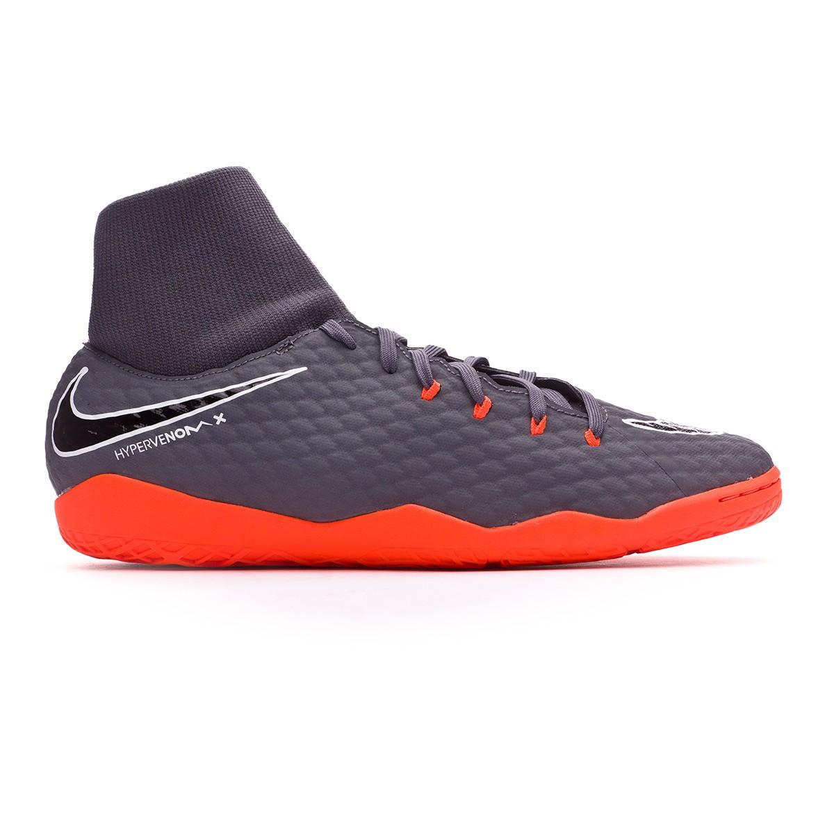 324c5c2326a0 Futsal Boot Nike Hypervenom PhantomX III Academy DF IC Dark grey-Total  orange-White - Tienda de fútbol Fútbol Emotion