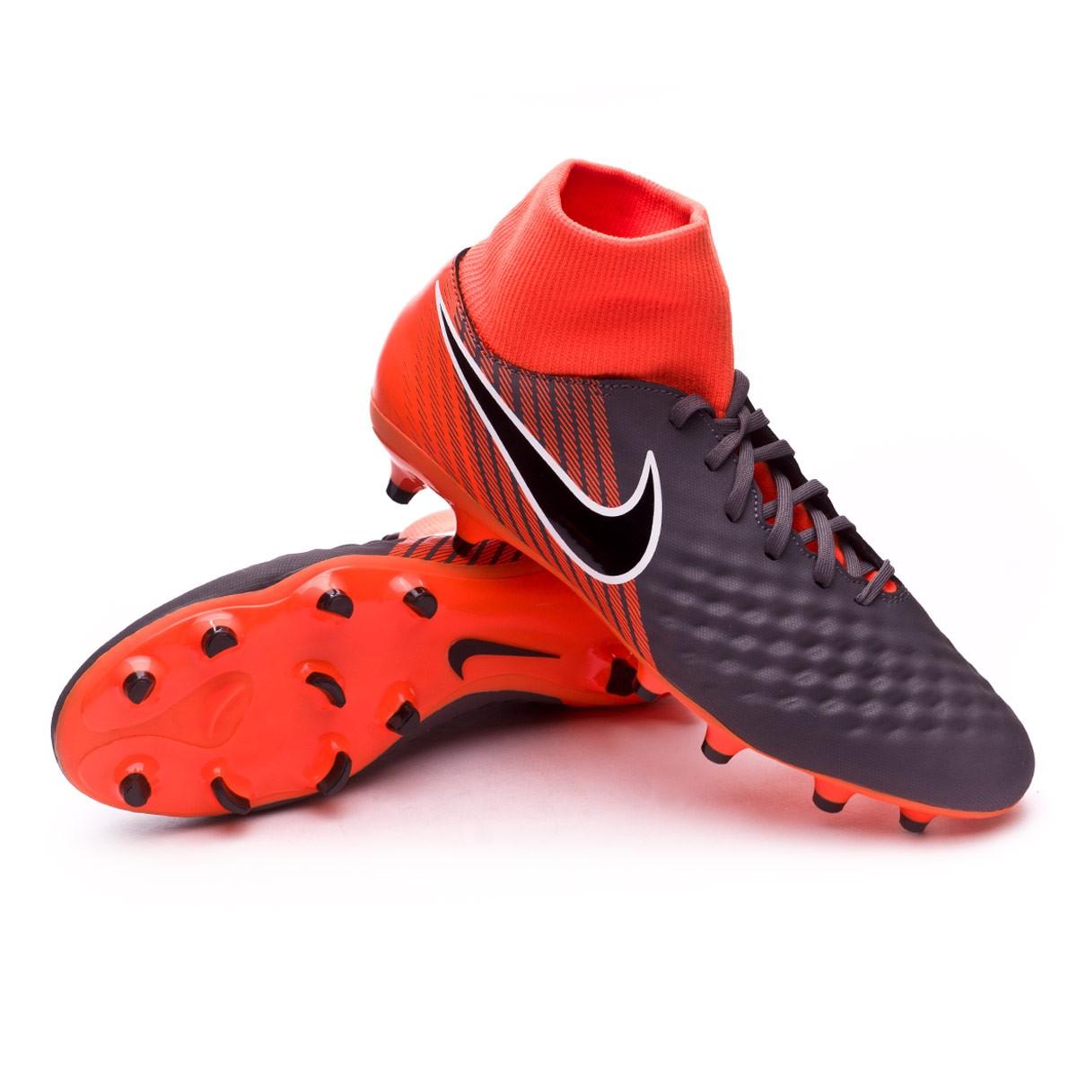 Obra 2 Academy DF FG, Zapatillas de Fútbol para Hombre, Gris (Dark Greyblacktotal Orangew 080), 42 EU Nike