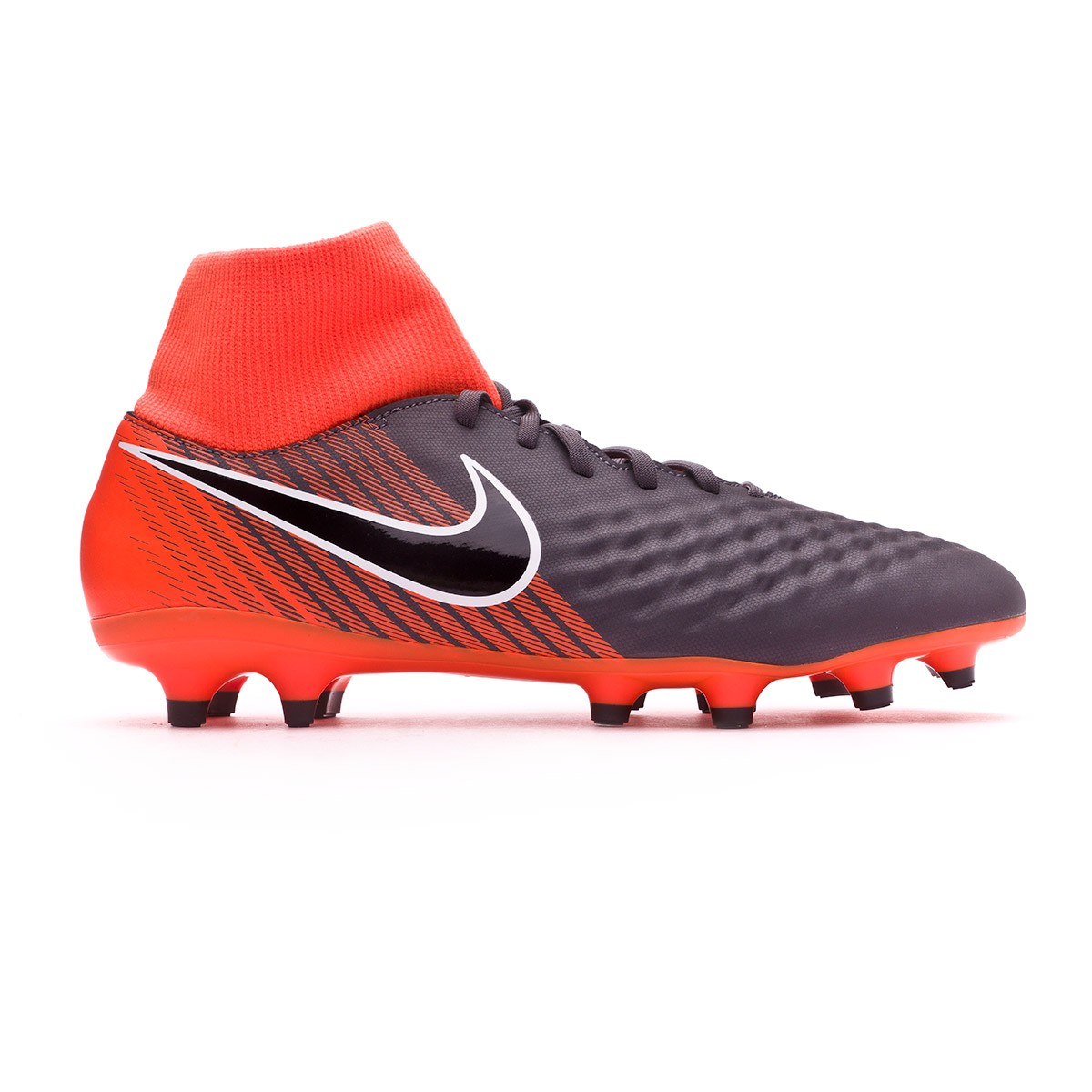brand new bbf9d 6c46a Zapatos de fútbol Nike Magista Obra II Academy DF FG Dark grey-Black-Total  orange-White - Soloporteros es ahora Fútbol Emotion