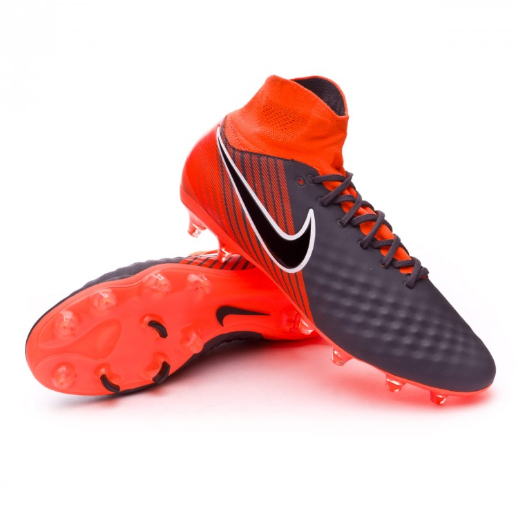 30a9ef68c124 Football Boots Nike Magista Obra II Pro DF FG Dark grey-Black-Total ...