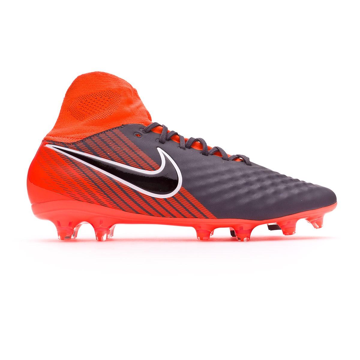 2fdb483a1039f Football Boots Nike Magista Obra II Pro DF FG Dark grey-Black-Total orange- White - Tienda de fútbol Fútbol Emotion