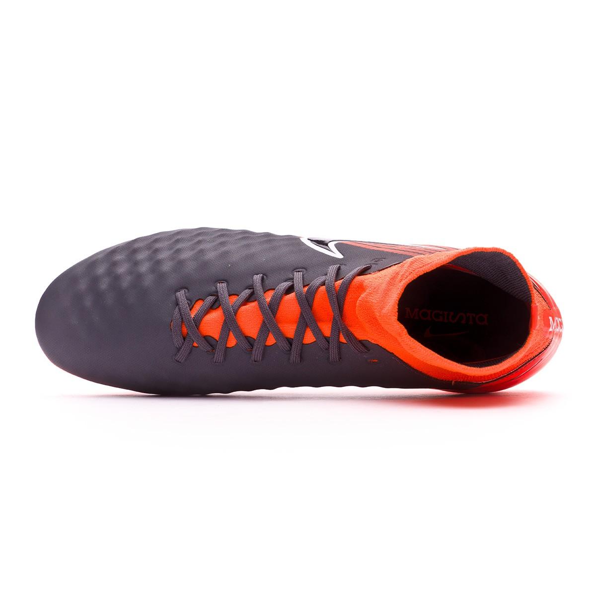 2bae7445e59876 Scarpe Nike Magista Obra II Pro DF FG Dark grey-Black-Total orange-White -  Negozio di calcio Fútbol Emotion