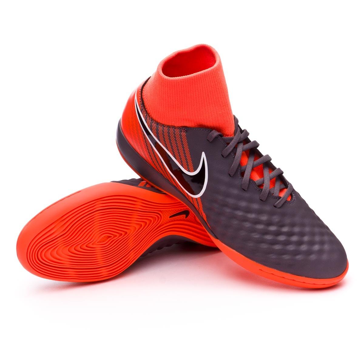 Nike OBRAX 3 Academy DF IC - Scarpe da ginnastica, BLACK/BLACK-LT CRIMSON, 10