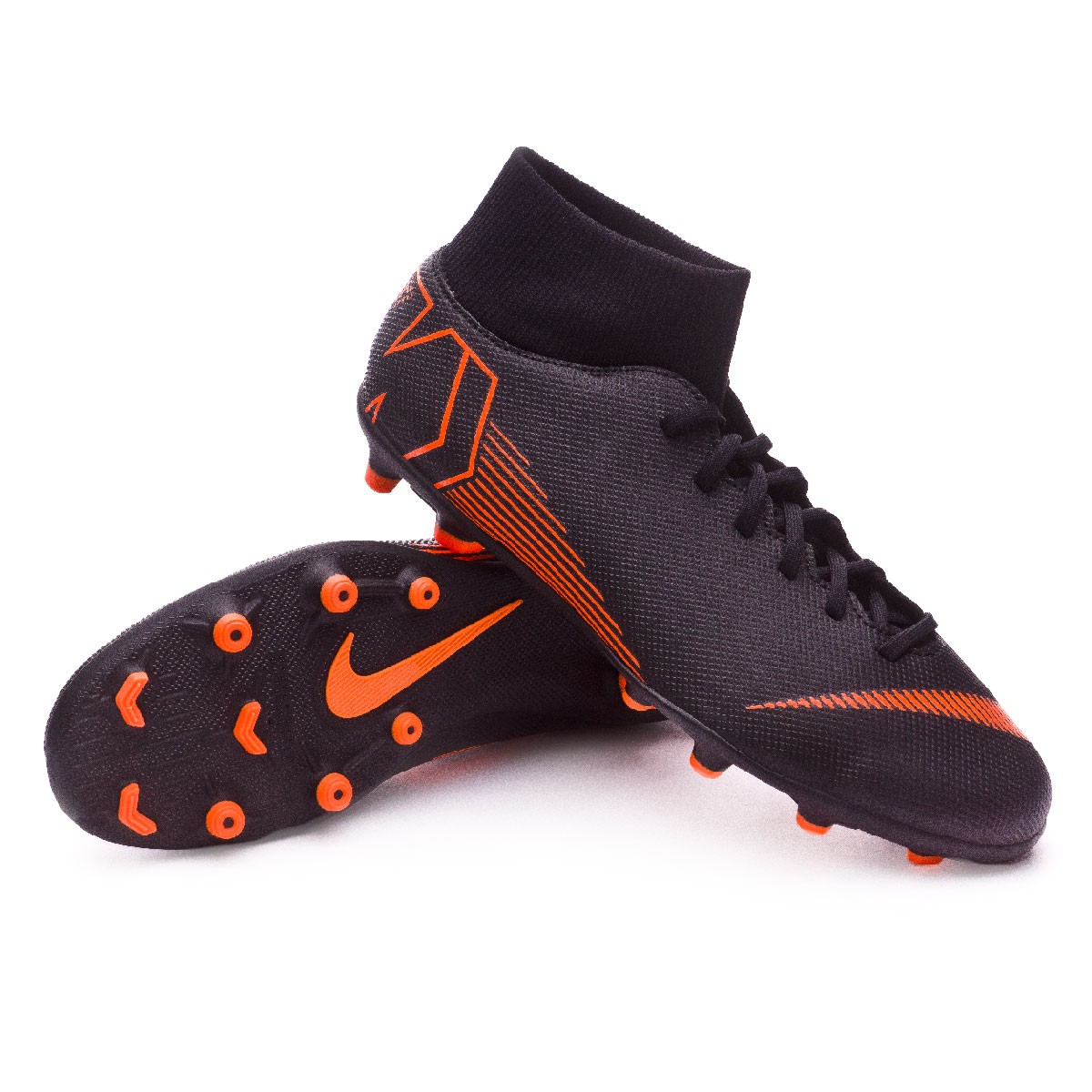 buy popular e4728 f7a10 Bota Mercurial Superfly VI Club MG Black-Total orange-White