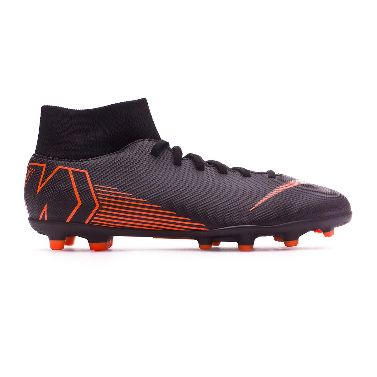3185a6b4aaf8 Scarpe Nike Mercurial Superfly VI Club MG Black-Total orange-White - Negozio  di calcio Fútbol Emotion