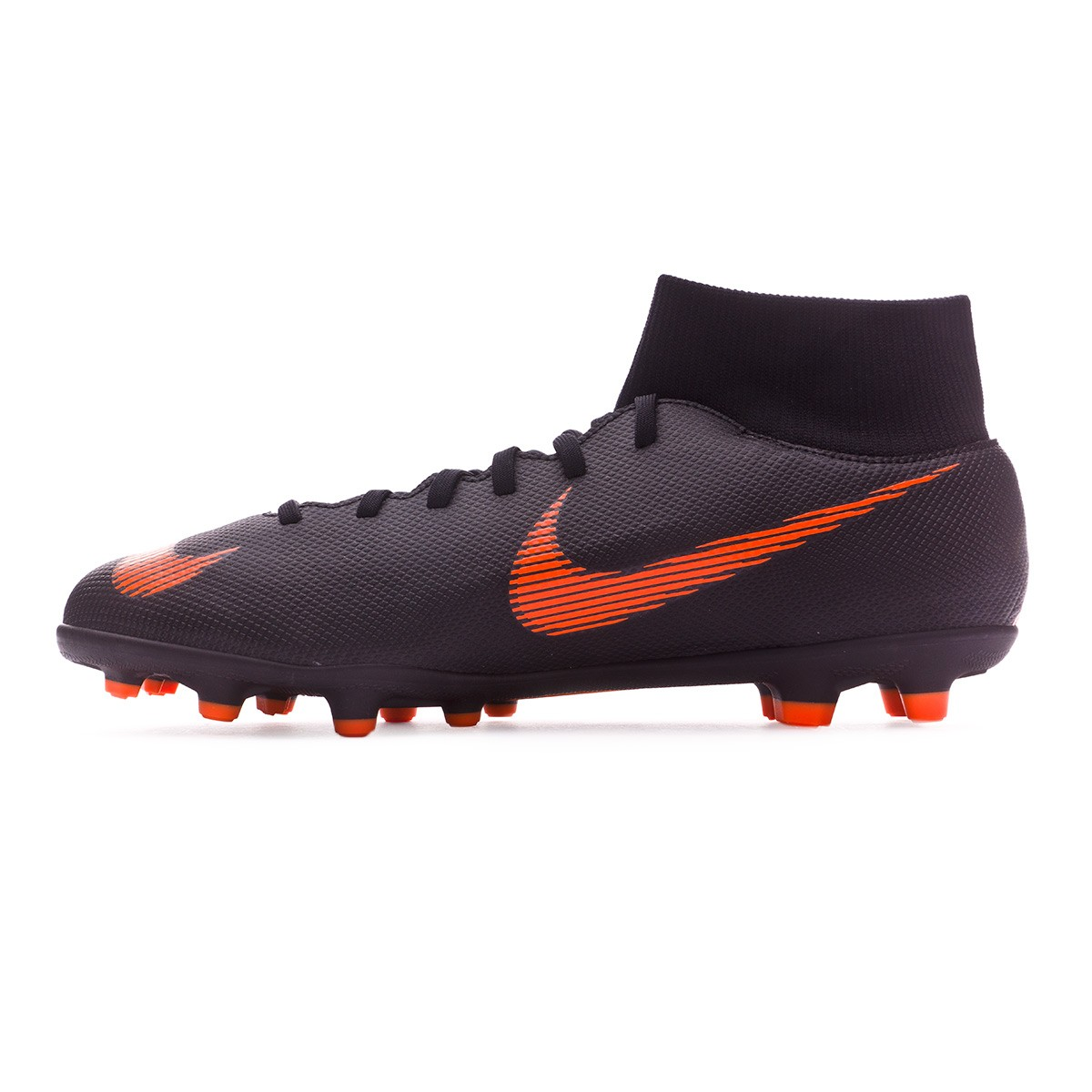 6b4b02214a647 Chuteira Nike Mercurial Superfly VI Club MG Black-Total orange-White - Loja  de futebol Fútbol Emotion