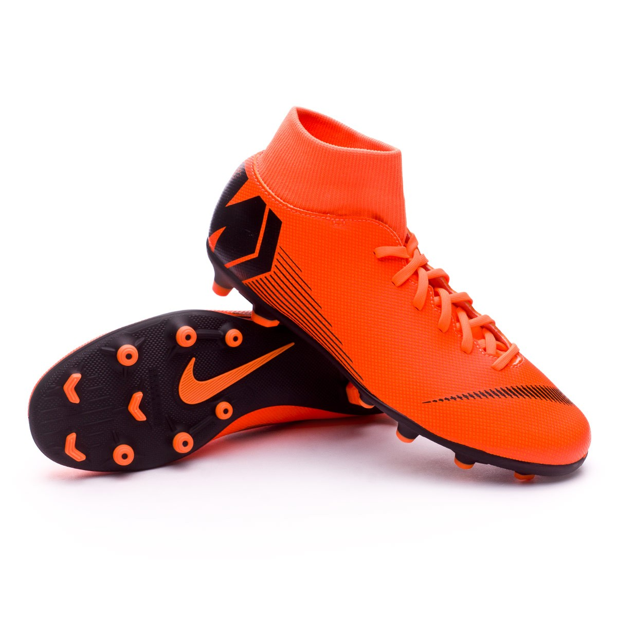 the best attitude 74d0f 42c3c Bota Mercurial Superfly VI Club MG Total orange-Black-Volt